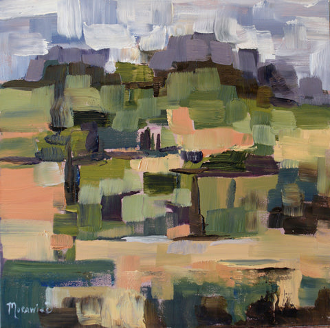 Vines with a View painting Kathy Morawiec - Christenberry Collection