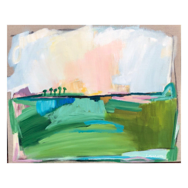 Brighter Days V painting Lauren Roberts - Christenberry Collection