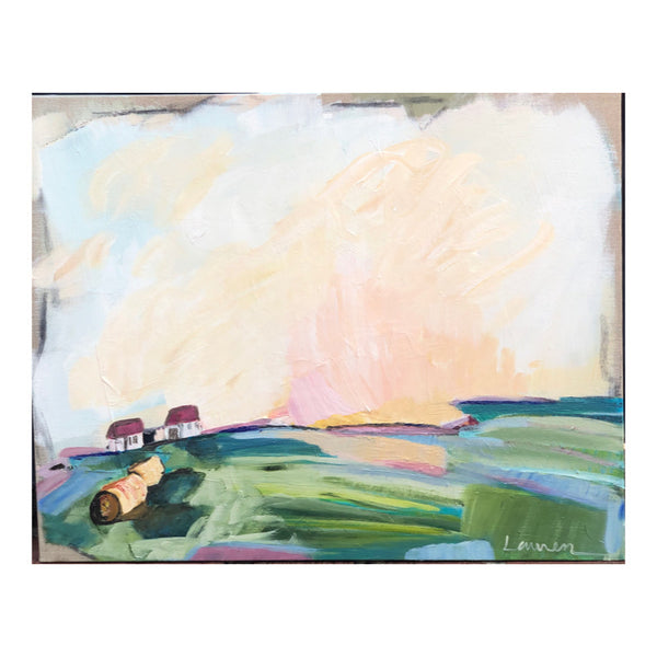 Brighter Days VI painting Lauren Roberts - Christenberry Collection