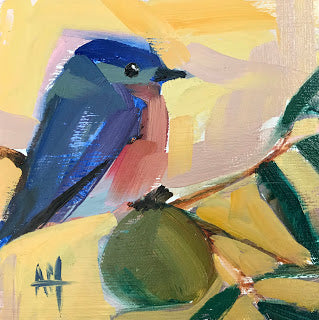 Bluebird No. 110 painting Angela Moulton - Christenberry Collection