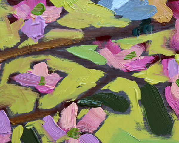 Carolina Wrens and Dogwood Blossoms painting Angela Moulton - Christenberry Collection
