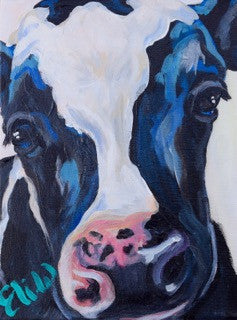 Cow painting Elizabeth Warner - Christenberry Collection