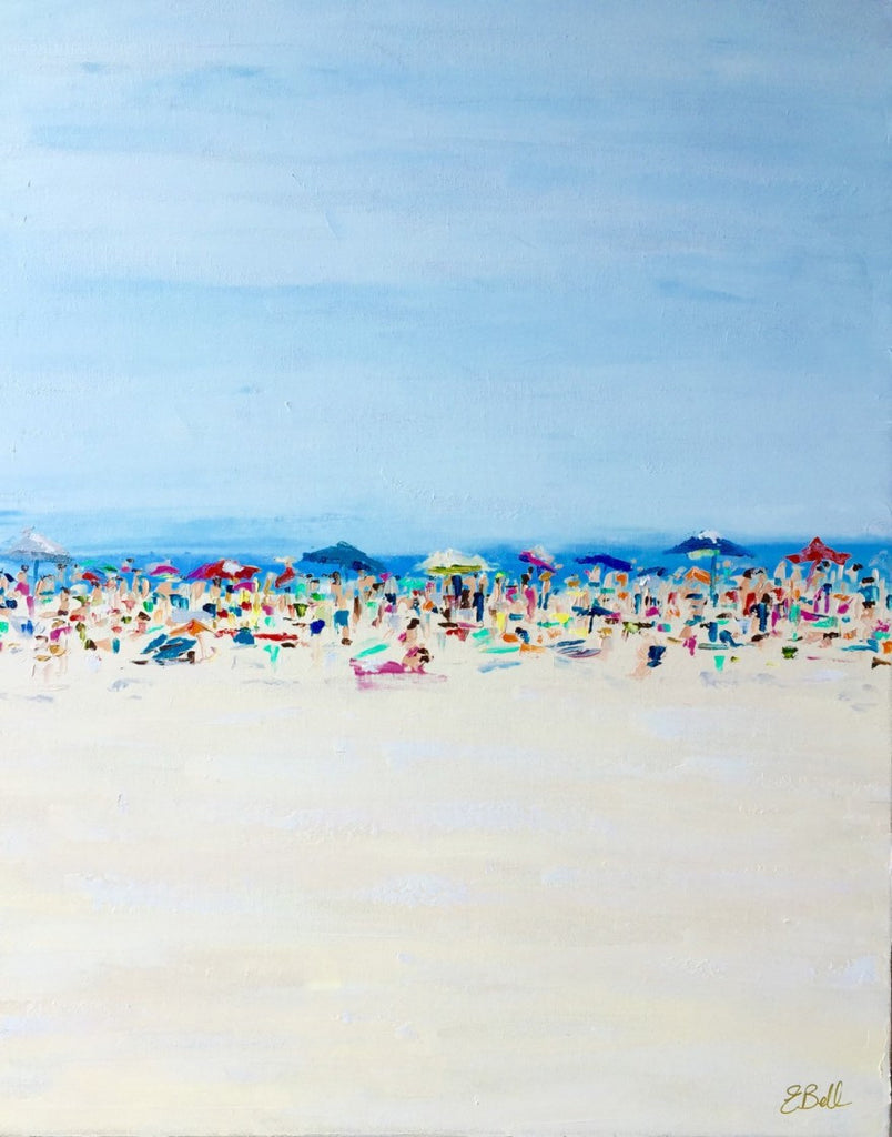 Beach Life painting Emma Bell - Christenberry Collection