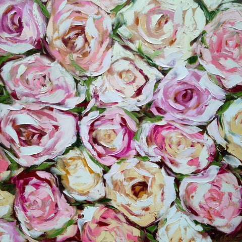 Box of Roses painting Emma Bell - Christenberry Collection