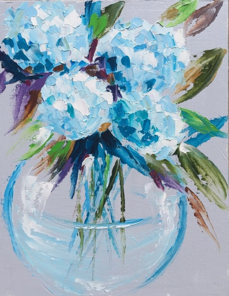 Hydrangeas painting Emma Bell - Christenberry Collection
