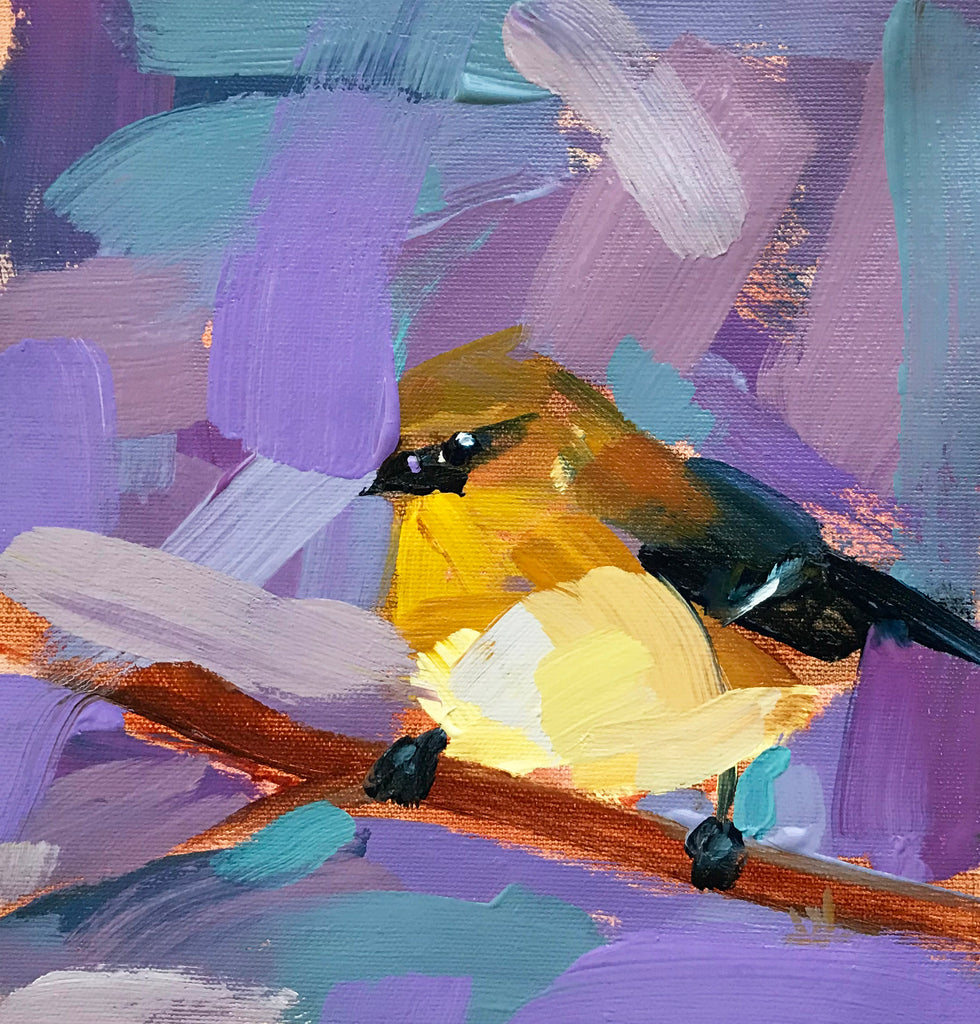 Goldfinch No. 80 painting Angela Moulton - Christenberry Collection