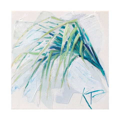 Original Palm Frond 1 painting Kelly Pelfrey - Christenberry Collection