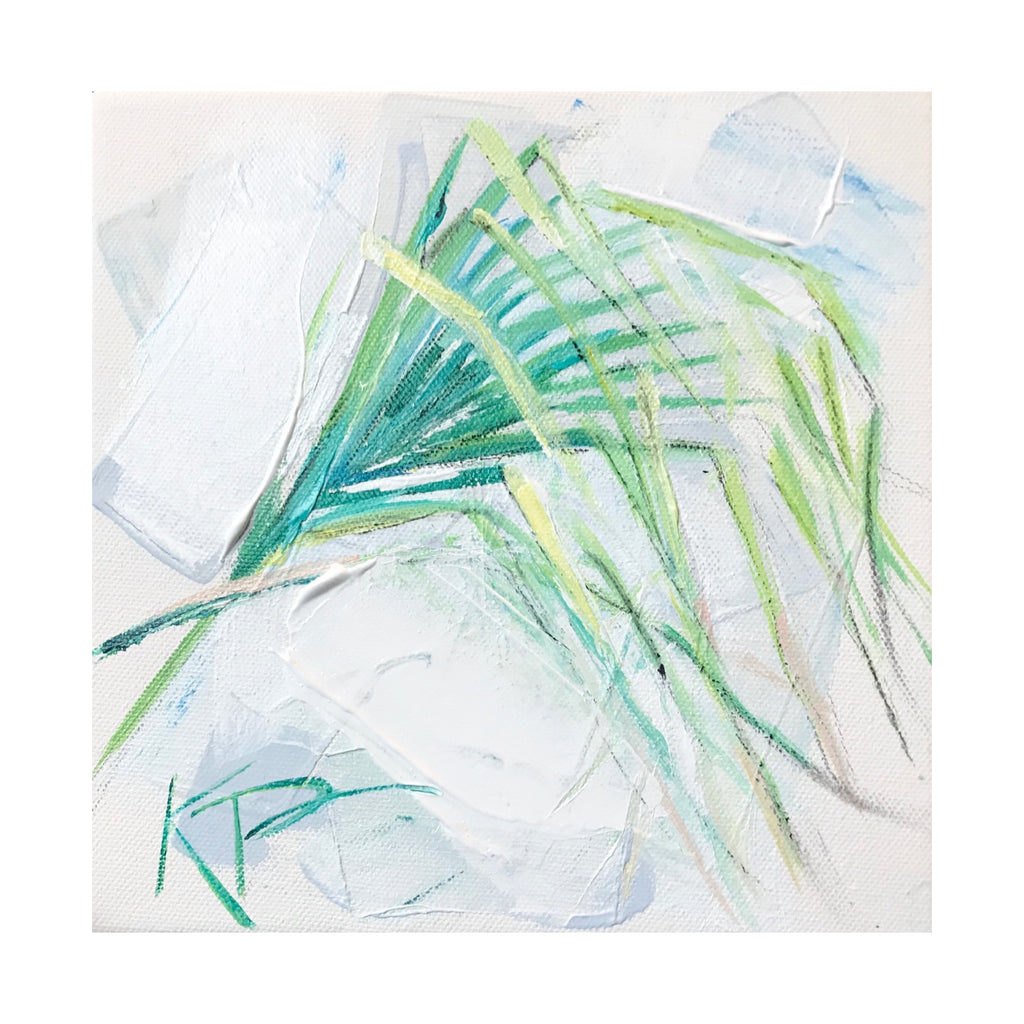 Original Palm Frond 2 painting Kelly Pelfrey - Christenberry Collection