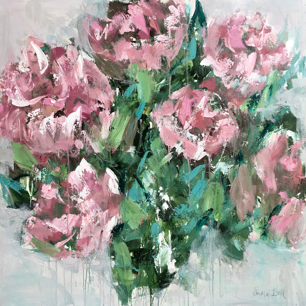 Wild Peonies painting Emma Bell - Christenberry Collection