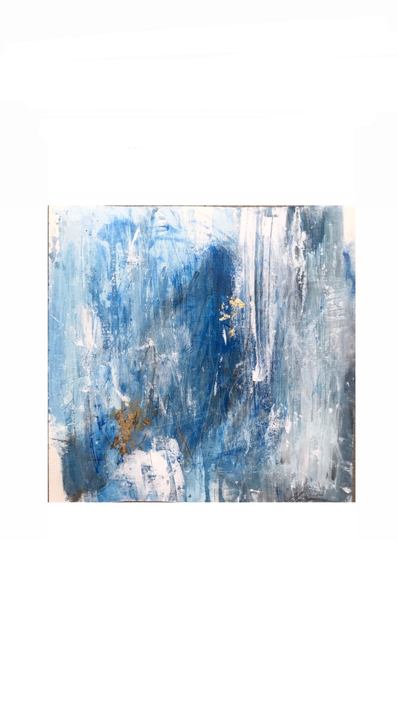 Bleu I painting Michalle Sessions - Christenberry Collection