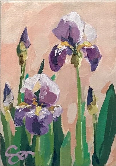 Irises II painting Shields Catone - Christenberry Collection