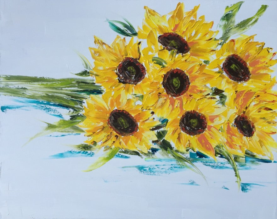 Sunshine Bunch Large painting Emma Bell - Christenberry Collection
