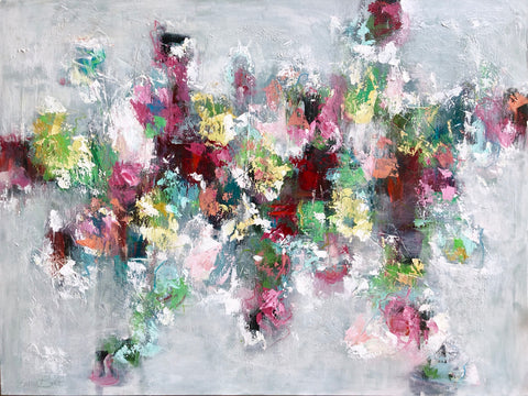 Spring Garden Abstract painting Emma Bell - Christenberry Collection