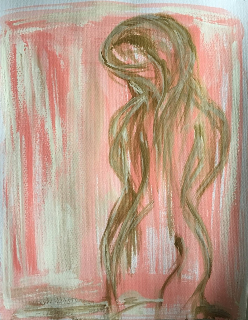 Figure Study Pink painting Michalle Sessions - Christenberry Collection