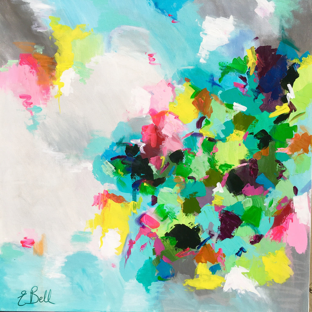 Within the Clouds painting Emma Bell - Christenberry Collection