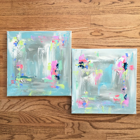 Summer Vibes Diptych