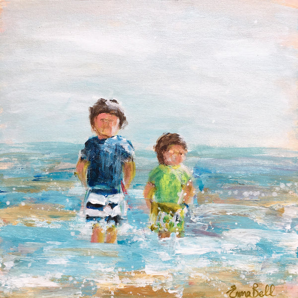 Beach Family Commissions painting Emma Bell - Christenberry Collection