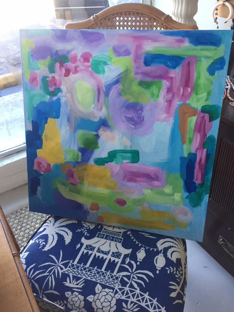 Colorful World painting Ashley Williams - Christenberry Collection
