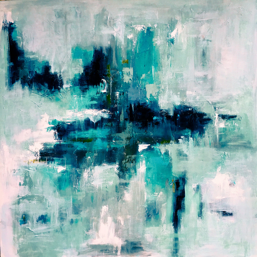 Aquatic Mist painting Emma Bell - Christenberry Collection
