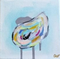Abstract Oysters painting Ashley Williams - Christenberry Collection