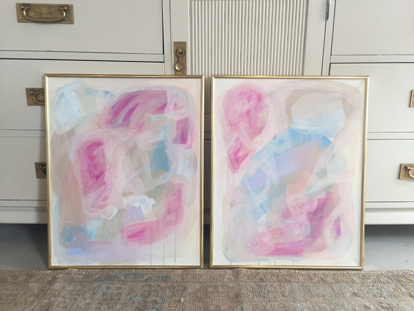 Washed Away 1 & 2 painting Ashley Williams - Christenberry Collection