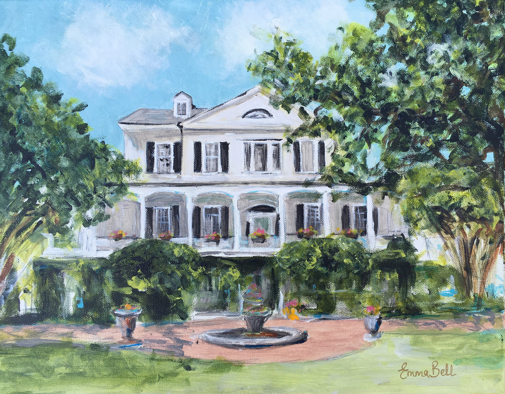 Thomas Bennet House painting Emma Bell - Christenberry Collection