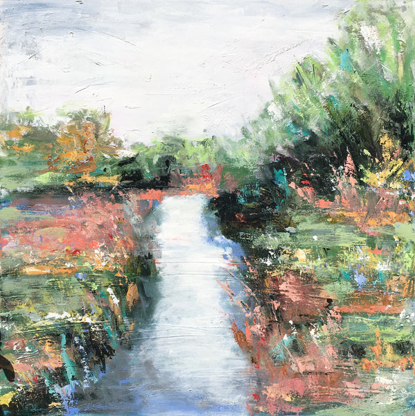 Carolina on the Waters painting Emma Bell - Christenberry Collection