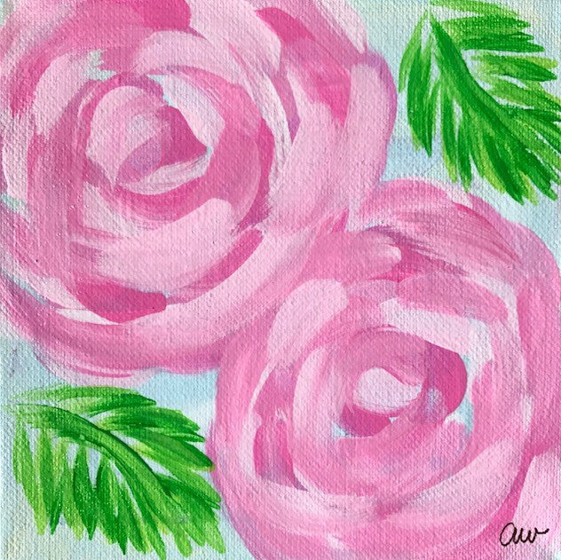 Party Peonies painting Ashley Williams - Christenberry Collection