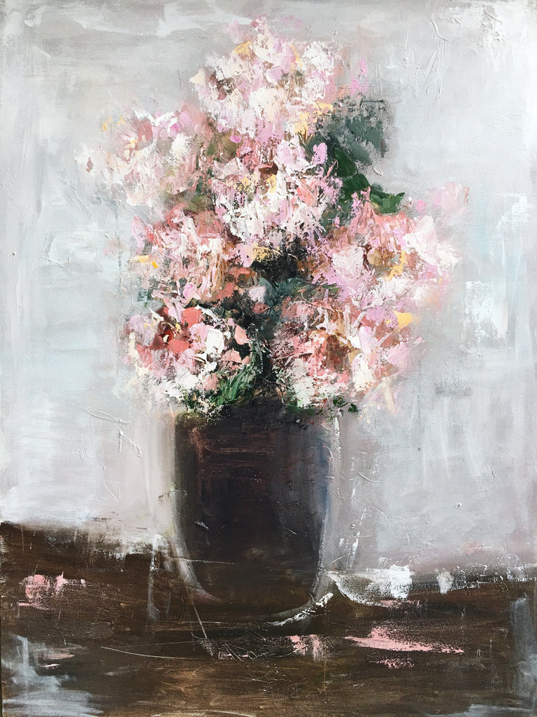 The Perfect Peonies painting Emma Bell - Christenberry Collection