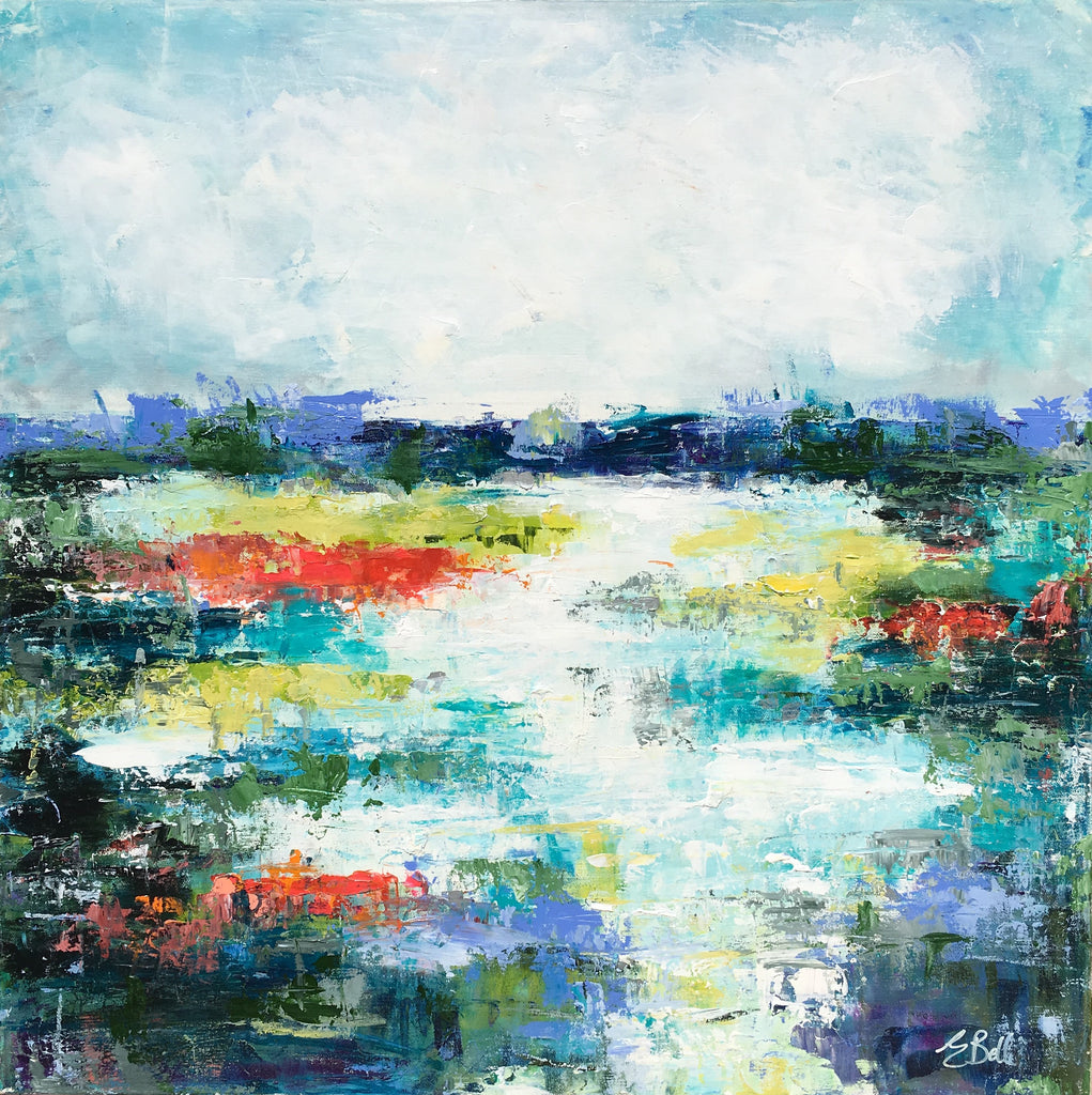 Aqua Marsh painting Emma Bell - Christenberry Collection