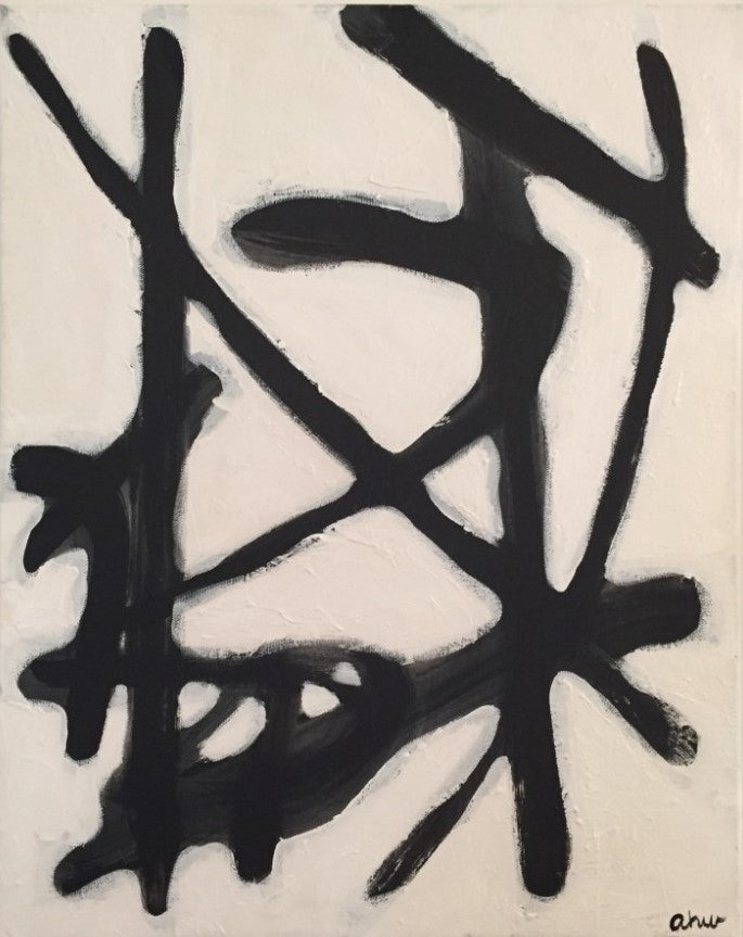 Black and White No. 2 painting Ashley Williams - Christenberry Collection