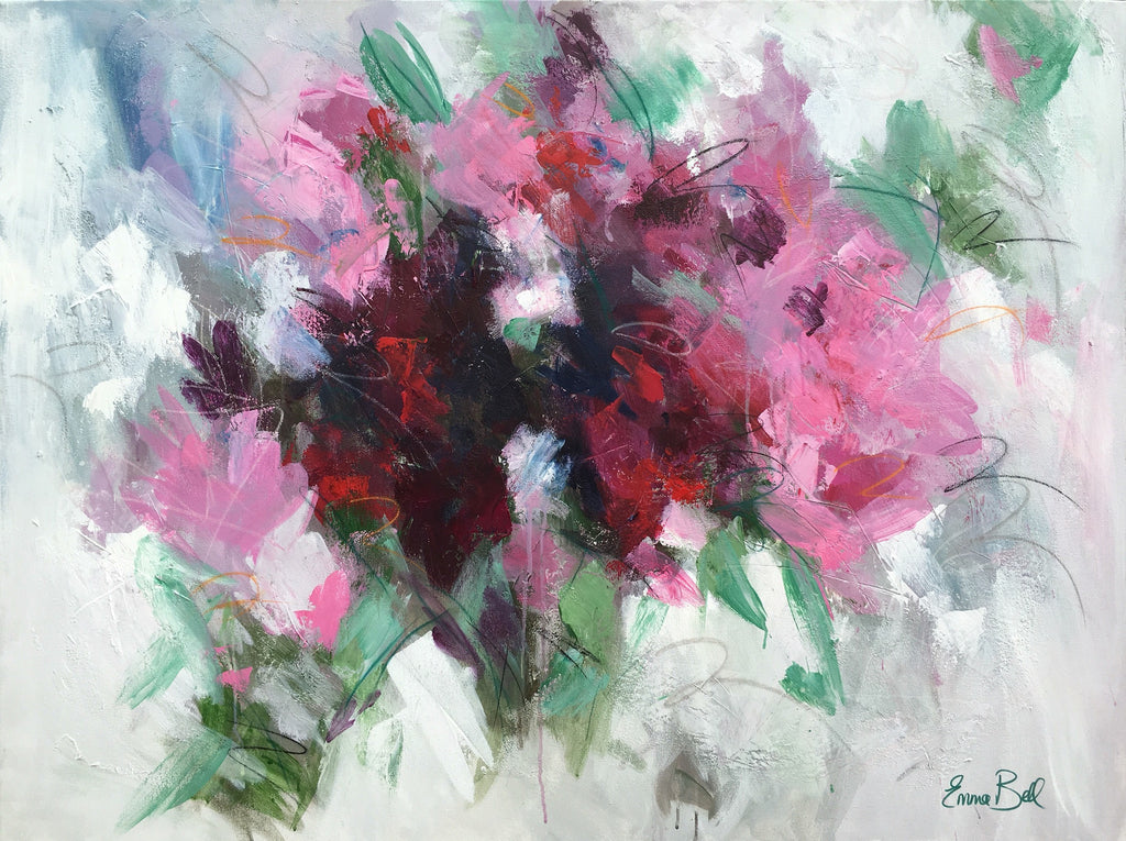 Wild Azaleas painting Emma Bell - Christenberry Collection