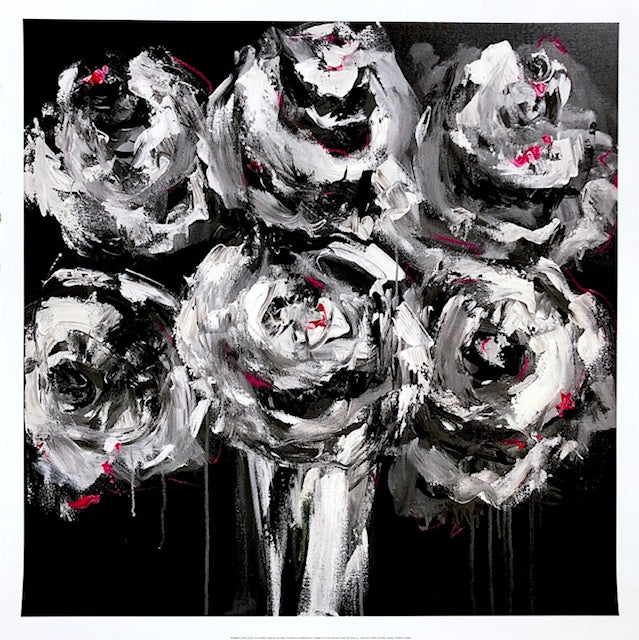 White Roses painting Emma Bell - Christenberry Collection