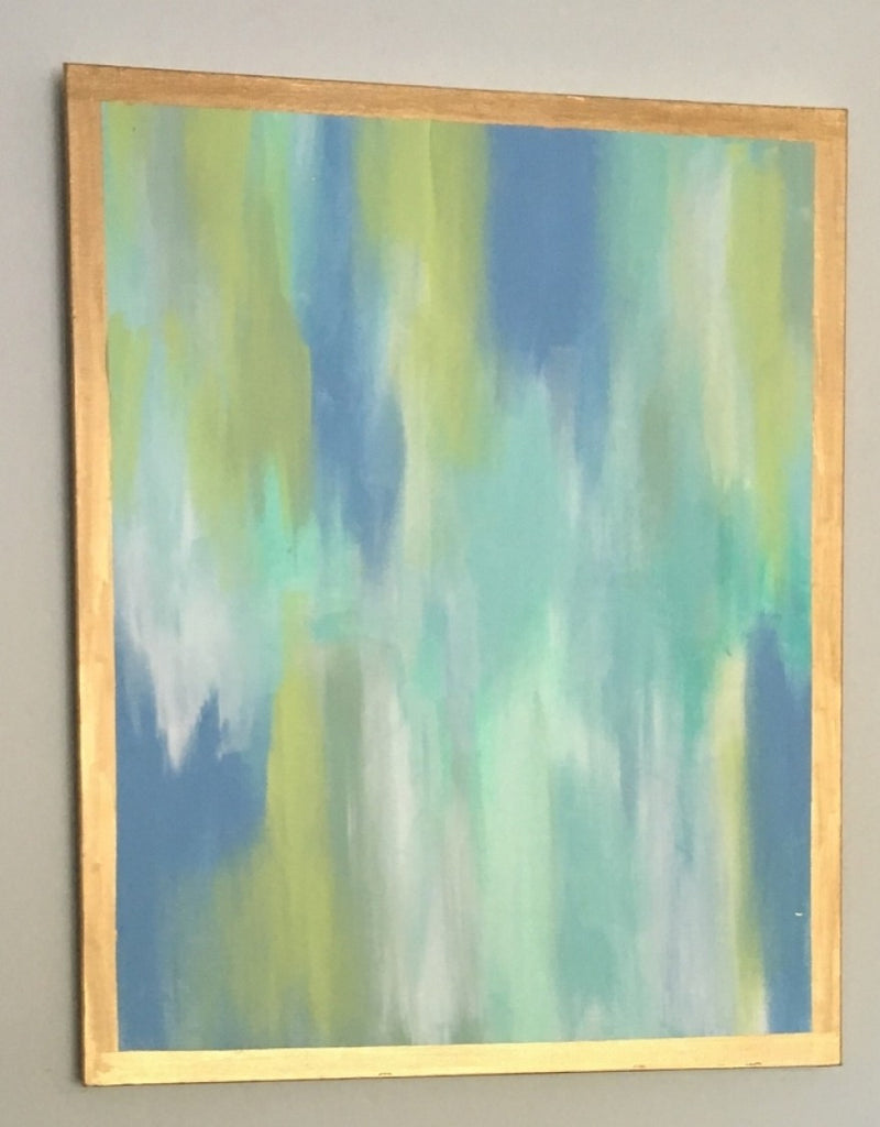 Blues and Greens painting Lauren Neville - Christenberry Collection