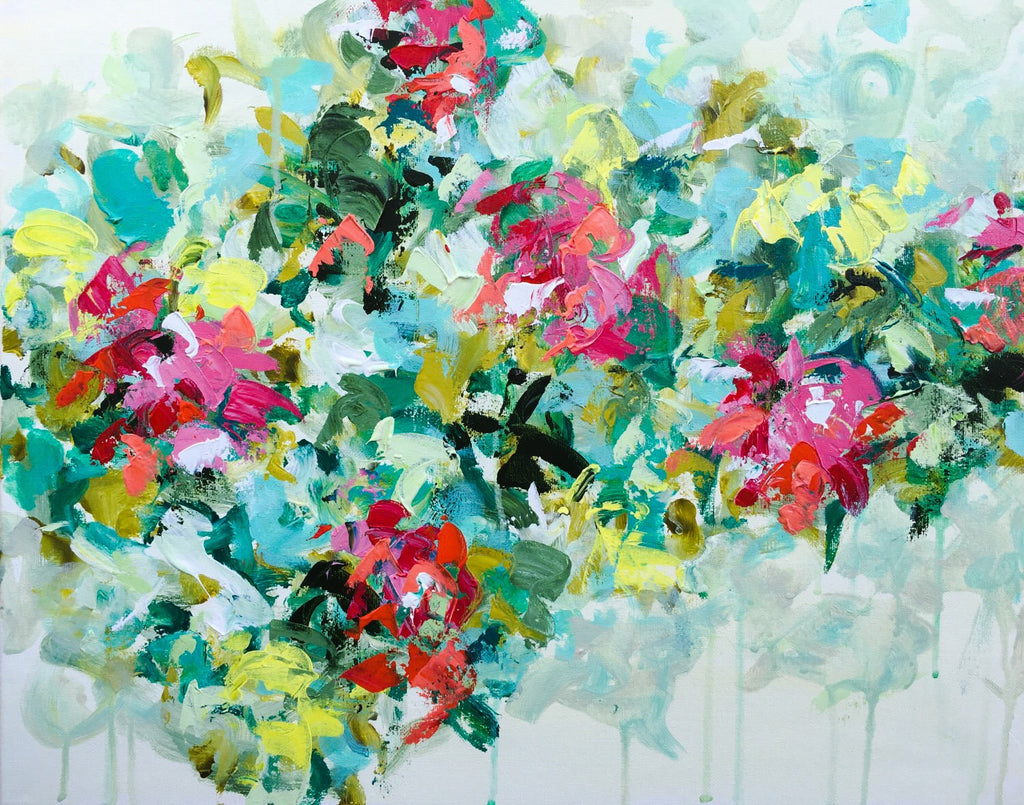 Bright Flower Garden painting Emma Bell - Christenberry Collection