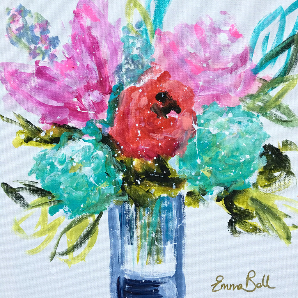 Mini Floral painting Emma Bell - Christenberry Collection