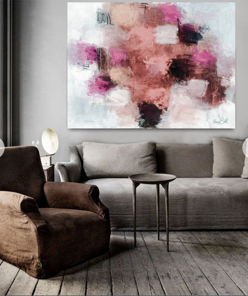 Peach Pink Blush painting Emma Bell - Christenberry Collection