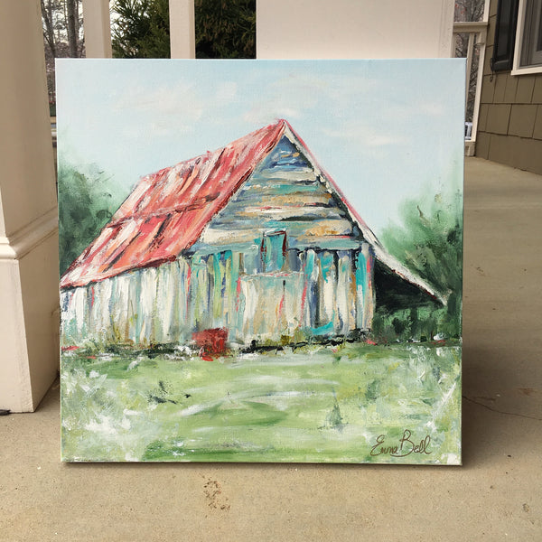 American Barn painting Emma Bell - Christenberry Collection
