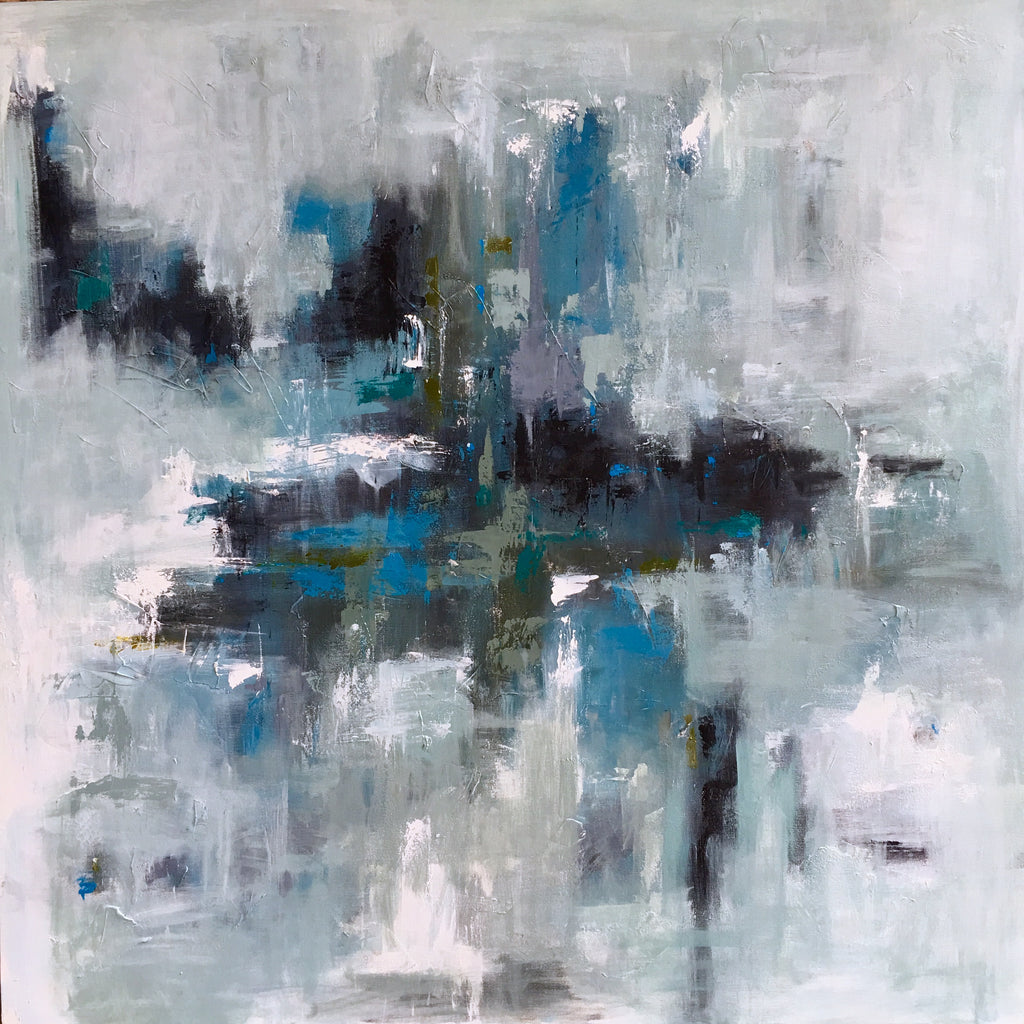 Deep Blue City Vibes painting Emma Bell - Christenberry Collection