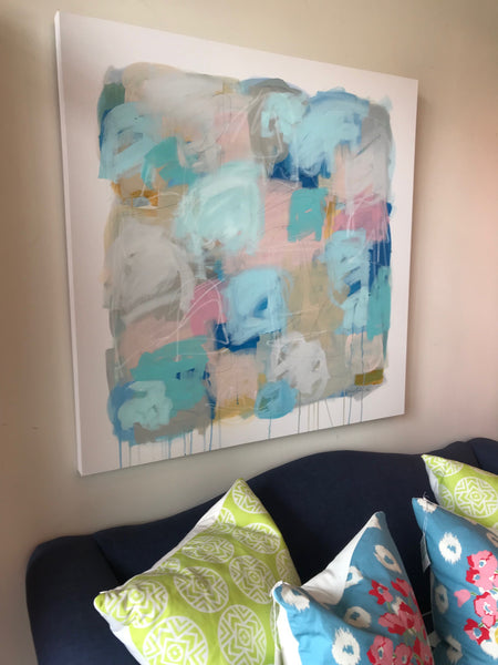 Peachy Hues painting Ashley Williams - Christenberry Collection