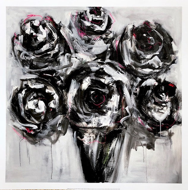 Black Roses painting Emma Bell - Christenberry Collection