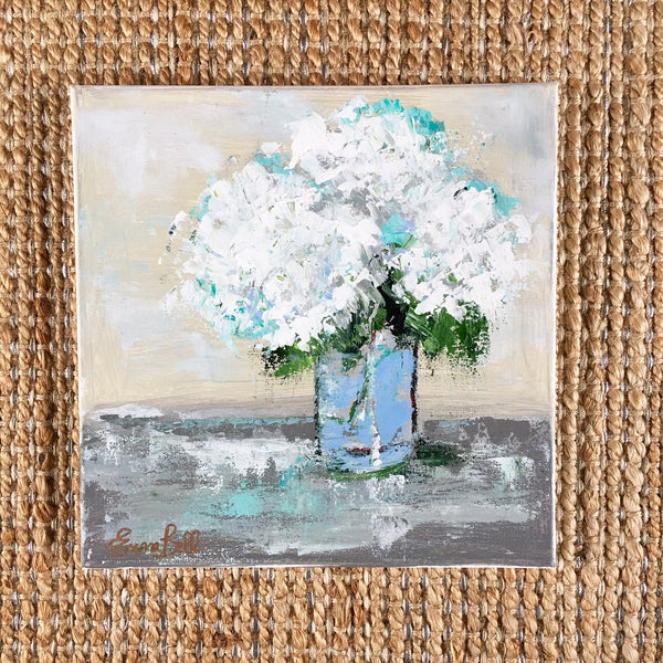 Hydrangeas on Gray Table | Christenberry Collection