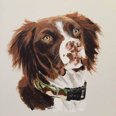 Pet Portrait Commissions by Emma Bell painting Emma Bell - Christenberry Collection