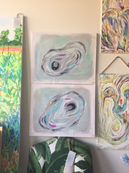 Large Oysters 1 & 2 painting Ashley Williams - Christenberry Collection