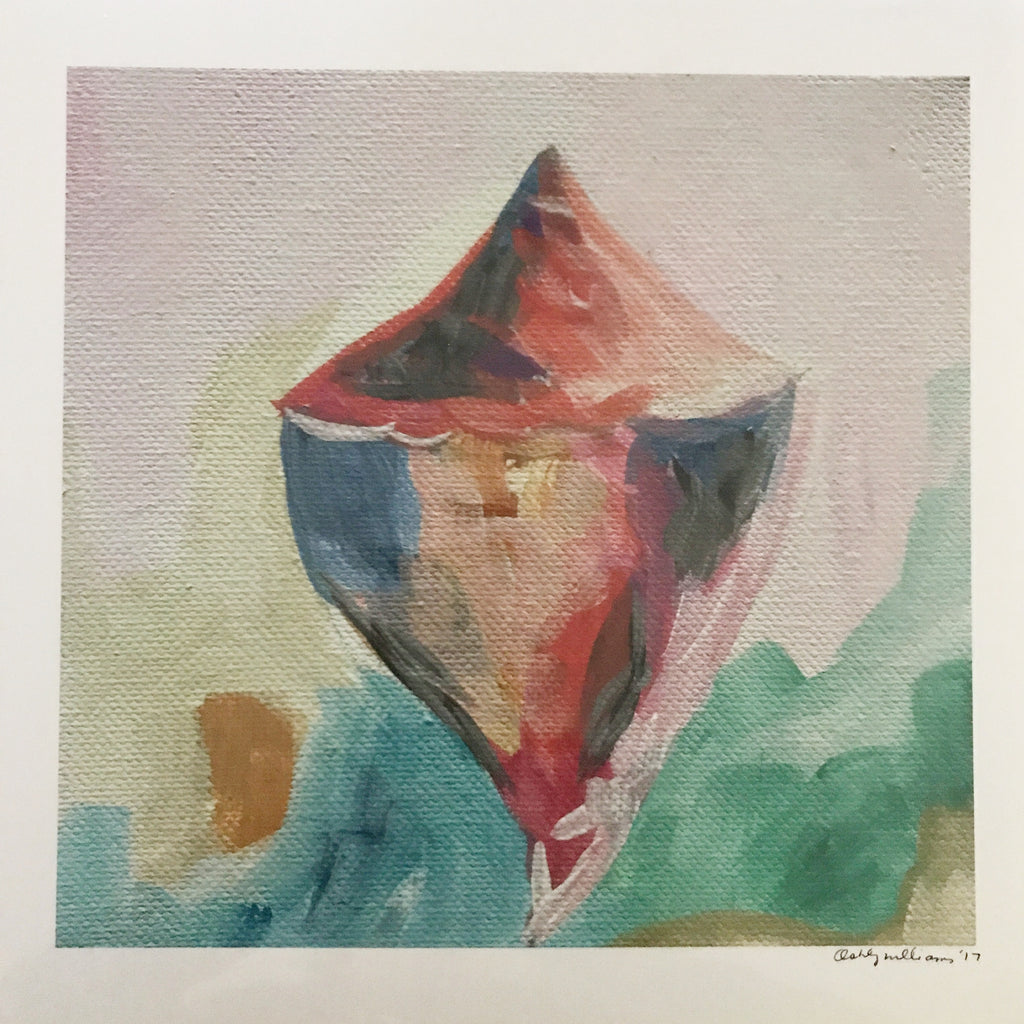 Conch 2 Print painting Ashley Williams - Christenberry Collection