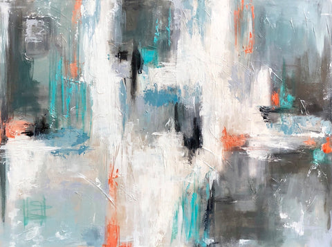 Aqua Interlude painting Emma Bell - Christenberry Collection