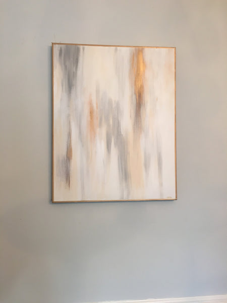 Gold and Gray painting Lauren Neville - Christenberry Collection