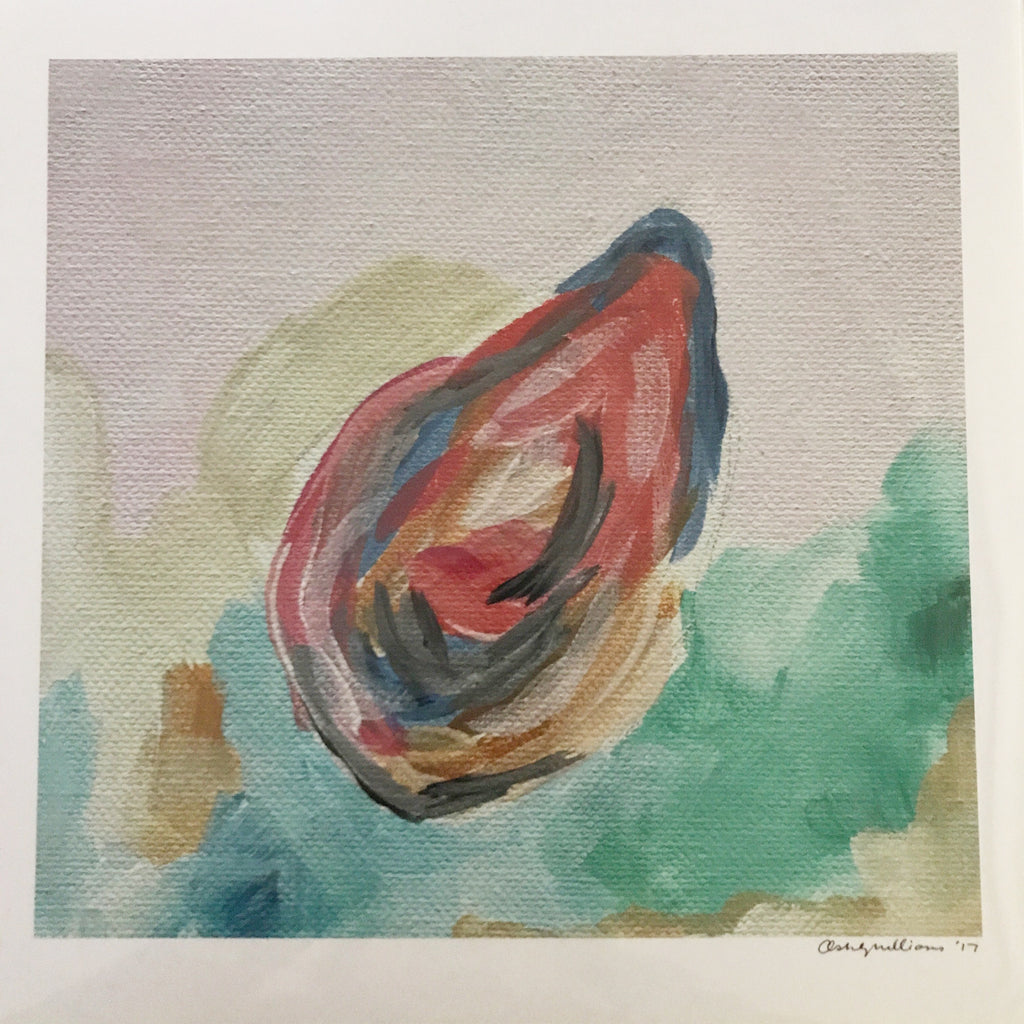 Oyster 2 Print painting Ashley Williams - Christenberry Collection