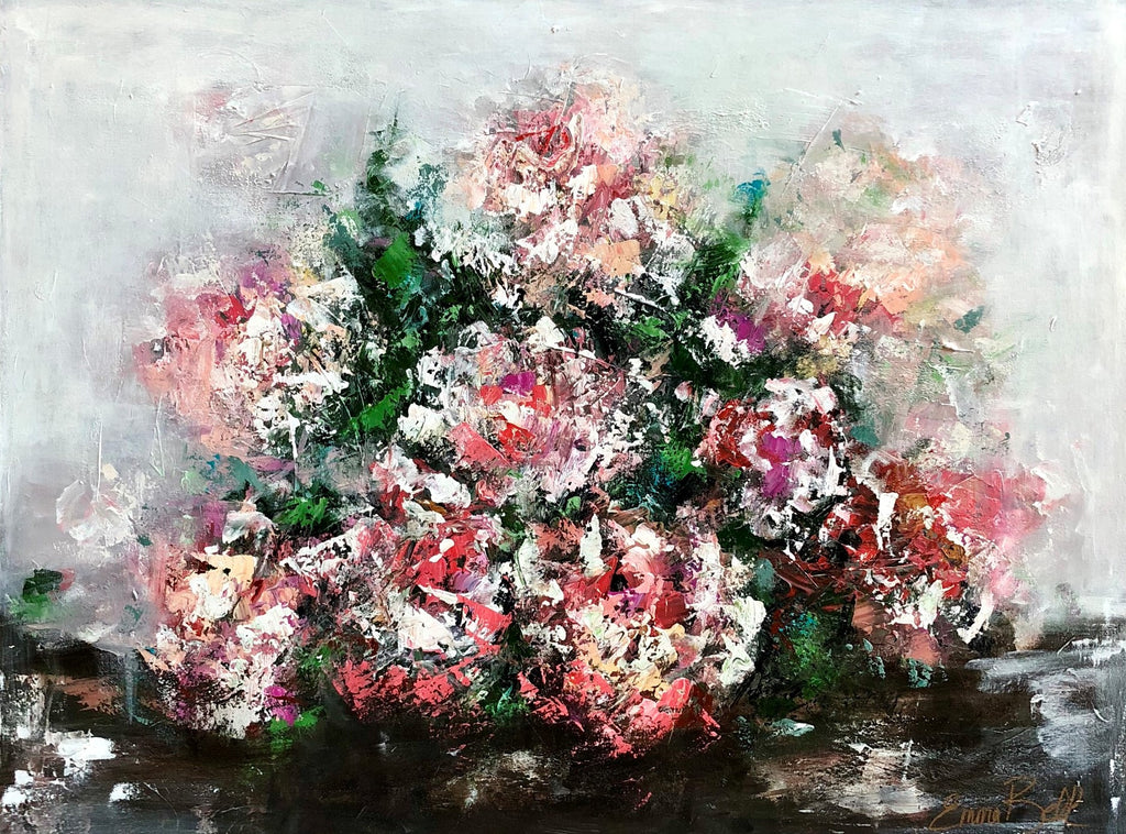 Brides Bouquet painting Emma Bell - Christenberry Collection