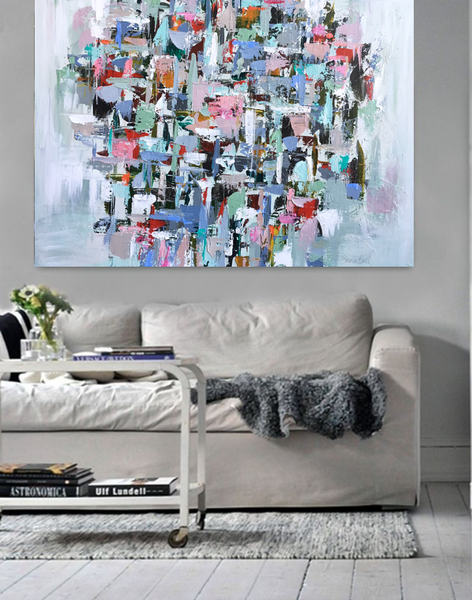 Muted Mint Intuition painting Emma Bell - Christenberry Collection